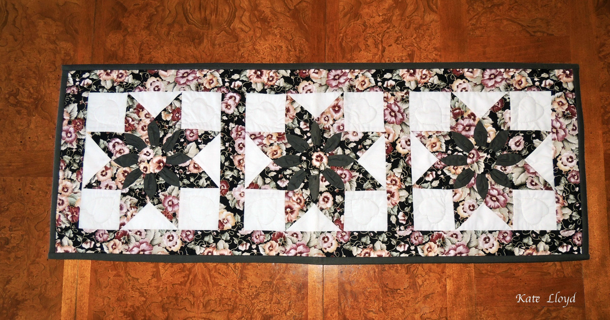 Amish-made table runner or wall hanging made in Lancaster County, PA.