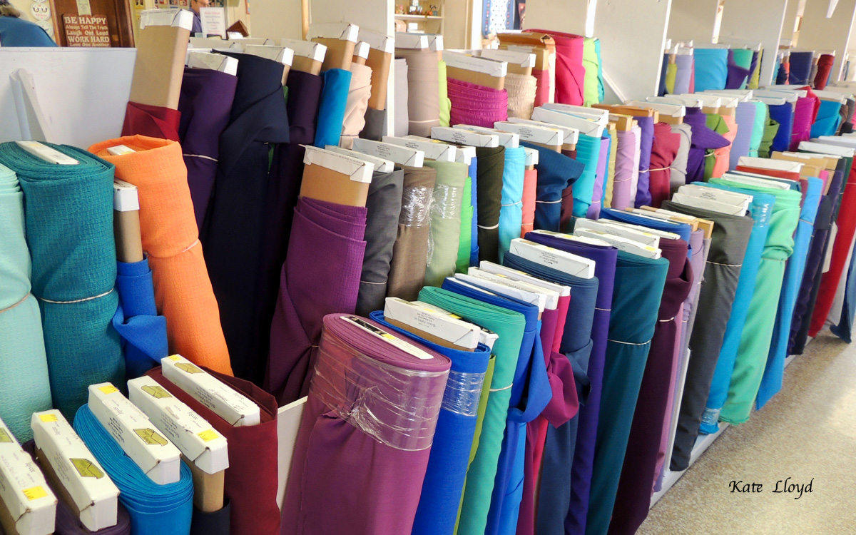Checking out the Amish section at Zook's Fabrics in Intercourse, PA. Love that store!