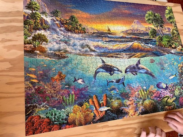 No TV up on the Island. How about a puzzle instead?