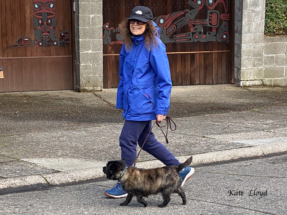 Kate Lloyd and Piper out for a walk