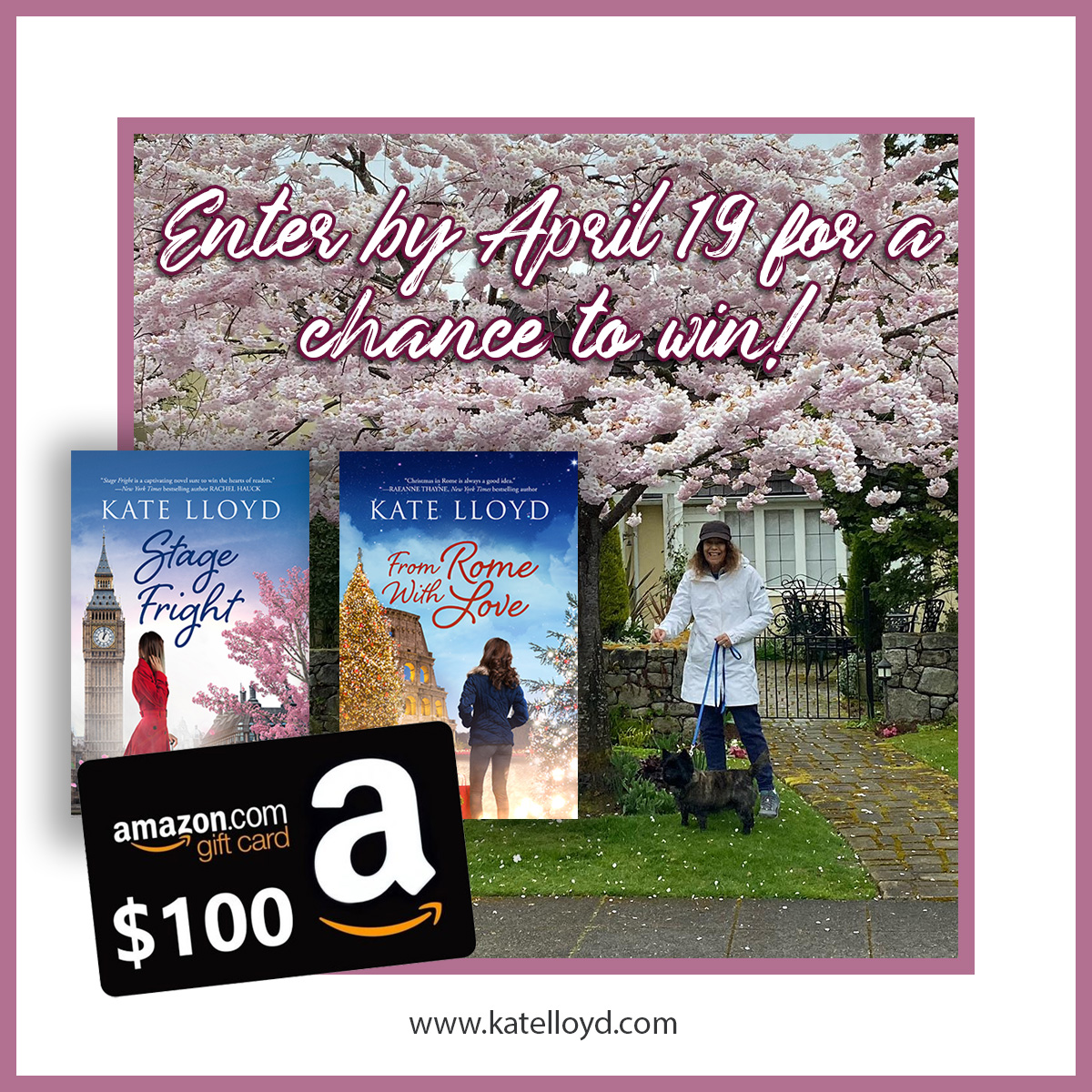 Enter Kate Lloyd's April 2021 Giveaway