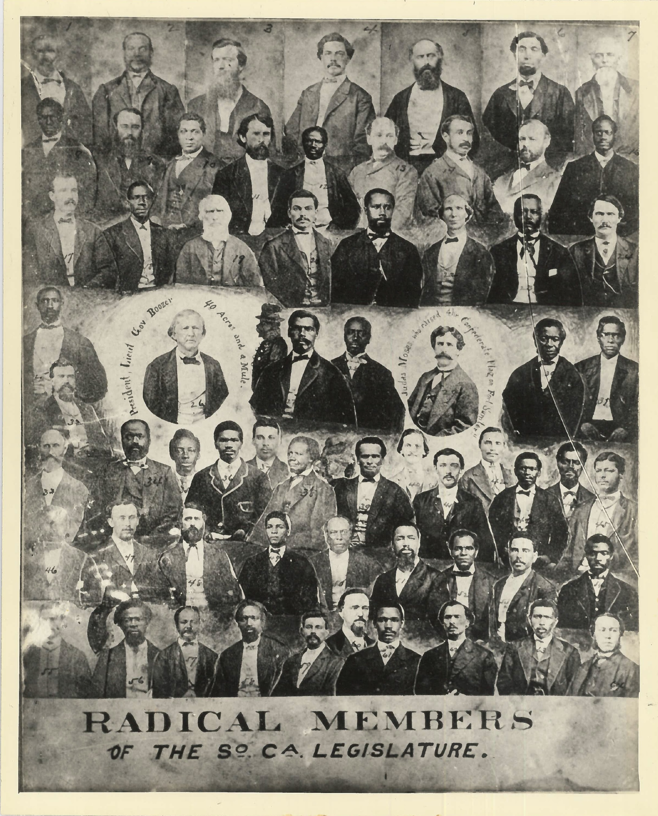 Cain is 3rd row from top and center. - 1868 members of the SC Legislature