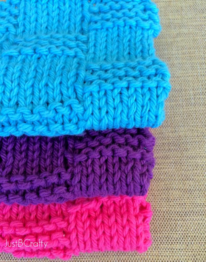 Basket Weave Dishcloth Pattern