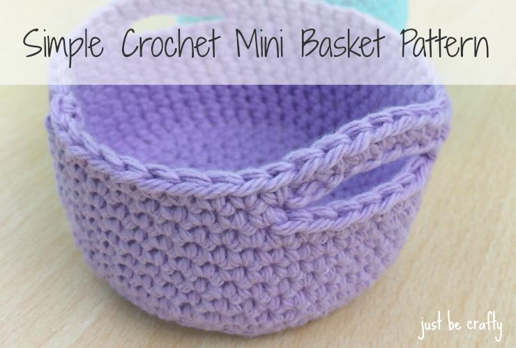 crochet mini basket pattern