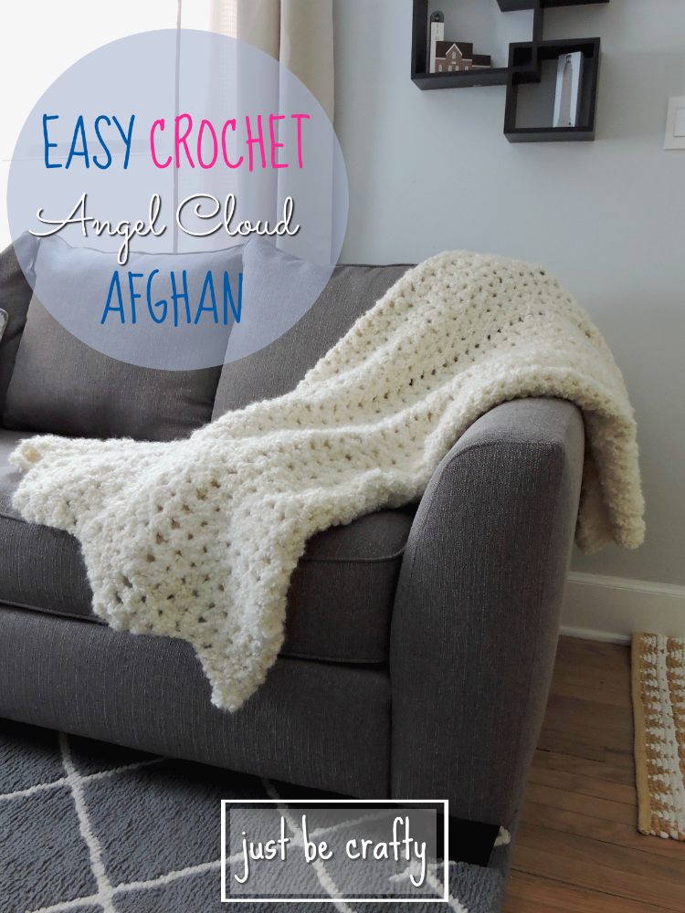 FREE Pattern! Easy Crochet Angel Cloud Afghan. Super soft and comfy!