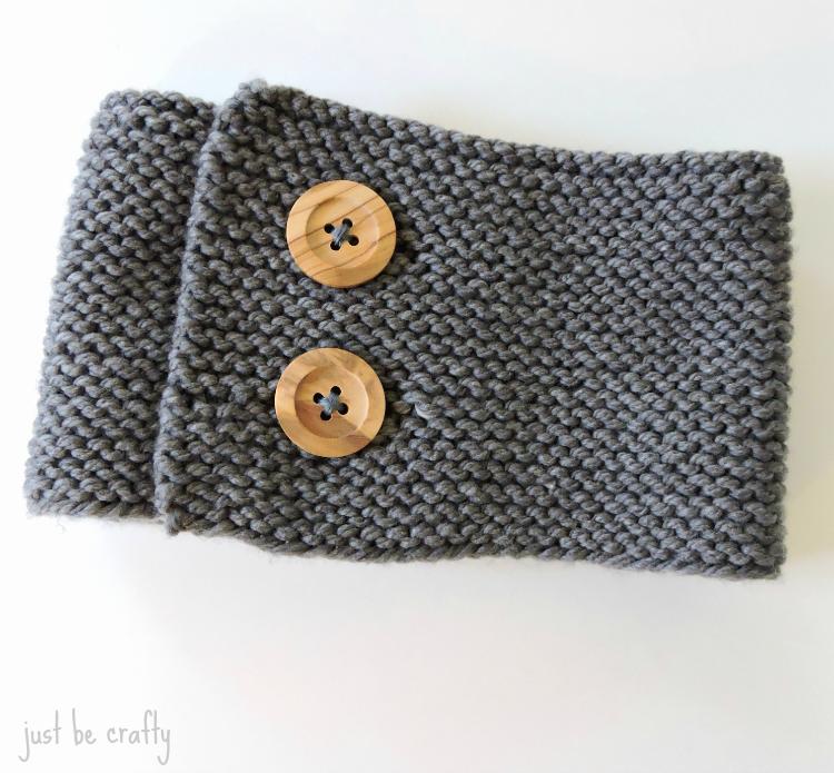 Garter Stitch Button-Up Neck warmer