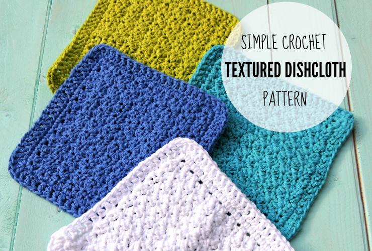 Simple Crochet Textured Dishcloth Pattern