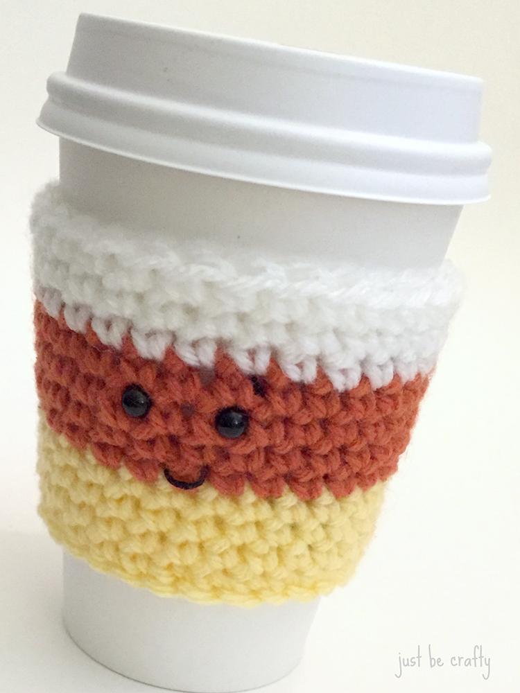 Candy Corn Coffee Cozy Pattern