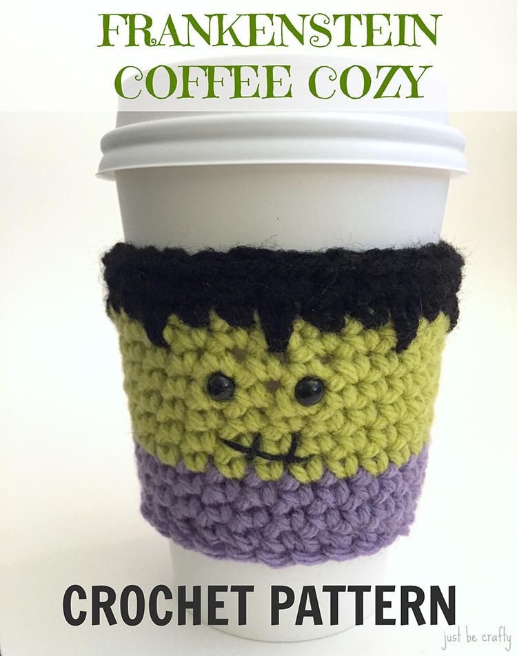 Frankenstein Coffee Cozy Pattern