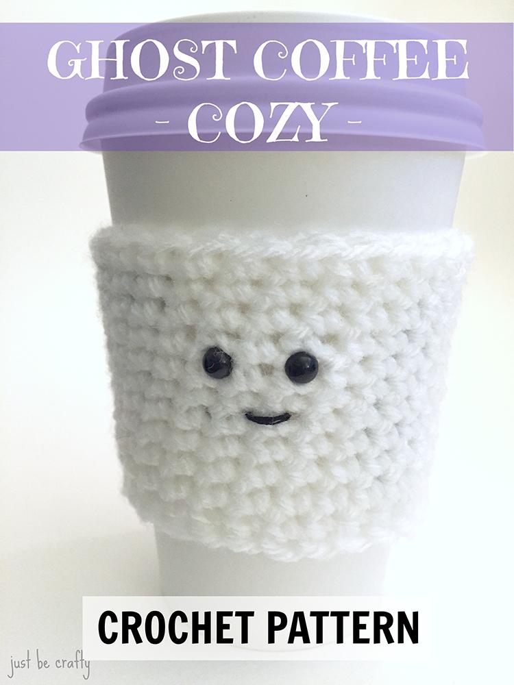 Ghost Coffee Cozy Pattern