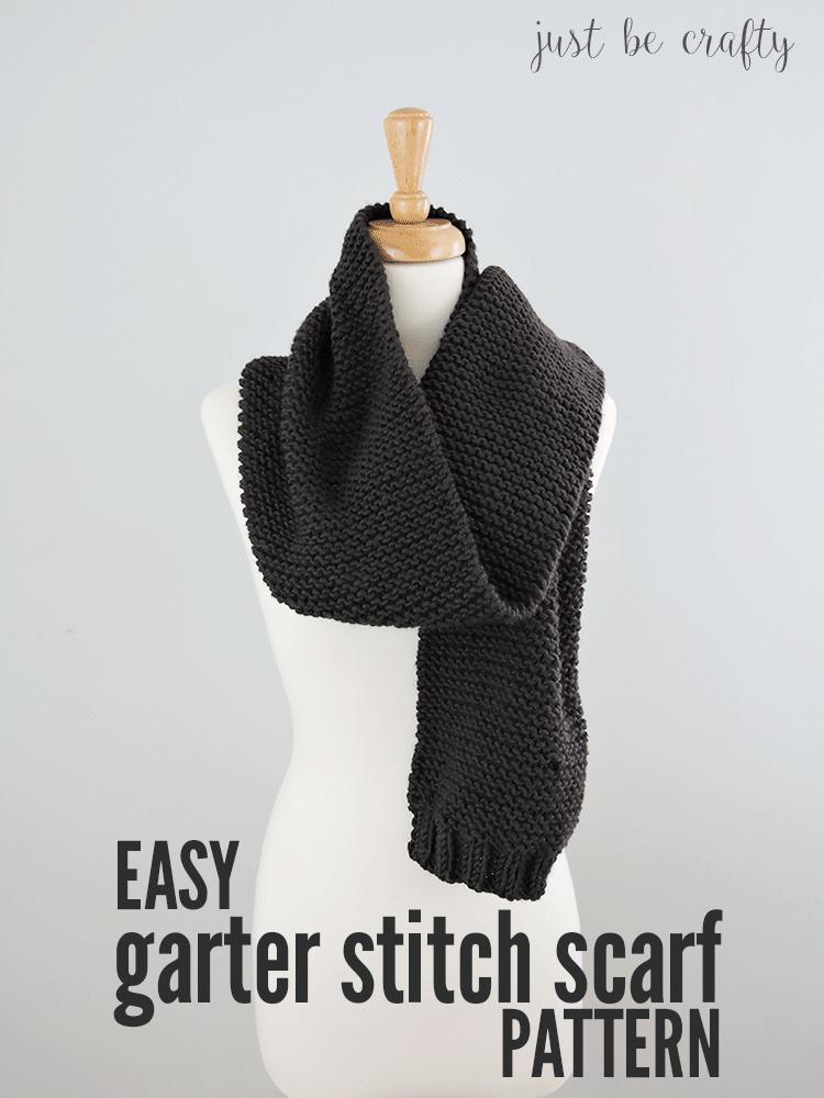 Easy Garter Stitch Scarf Pattern