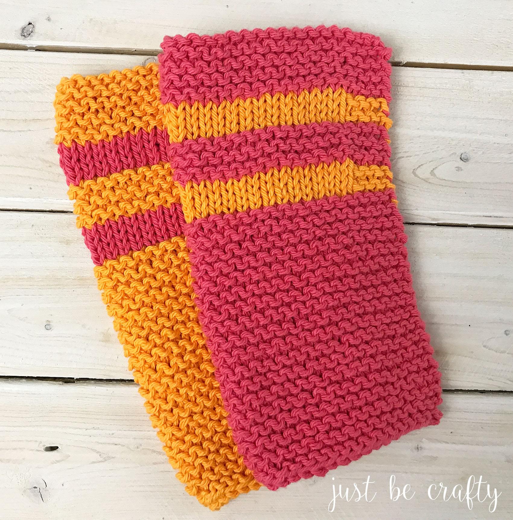 Garter Stitch Dishcloth Pattern