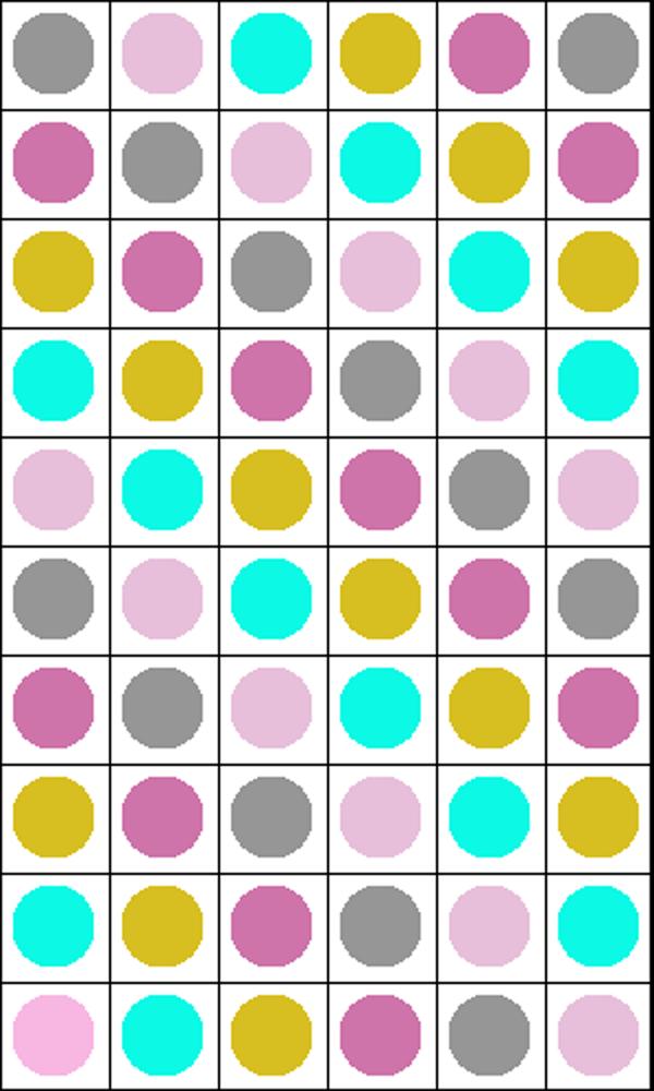 Circle to Square Granny Square Graph