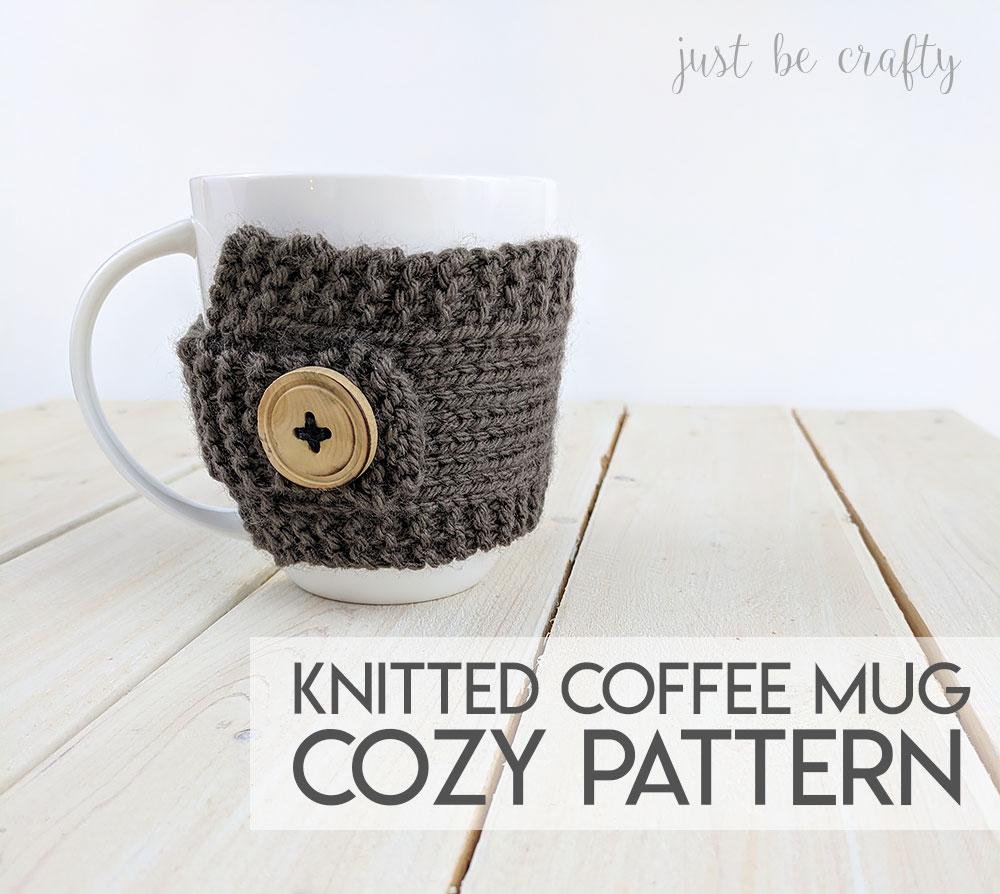 Knitted Coffee Mug Cozy Pattern