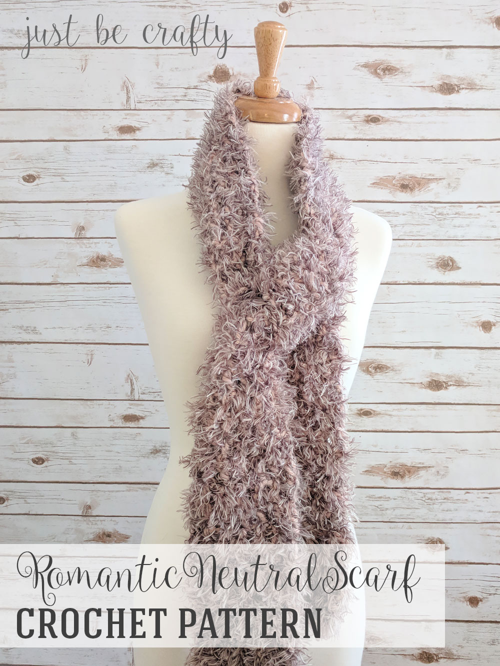 Romantic Neutral Scarf Pattern - Free Crochet Pattern by Just Be Crafty
