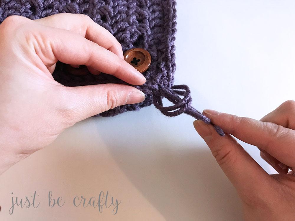 Textured Woodland Crochet Cowl