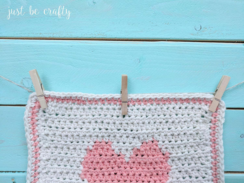 Lovebird Crochet Washcloth Pattern