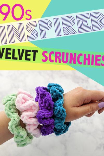 90s Inspired Velvet Scrunchies