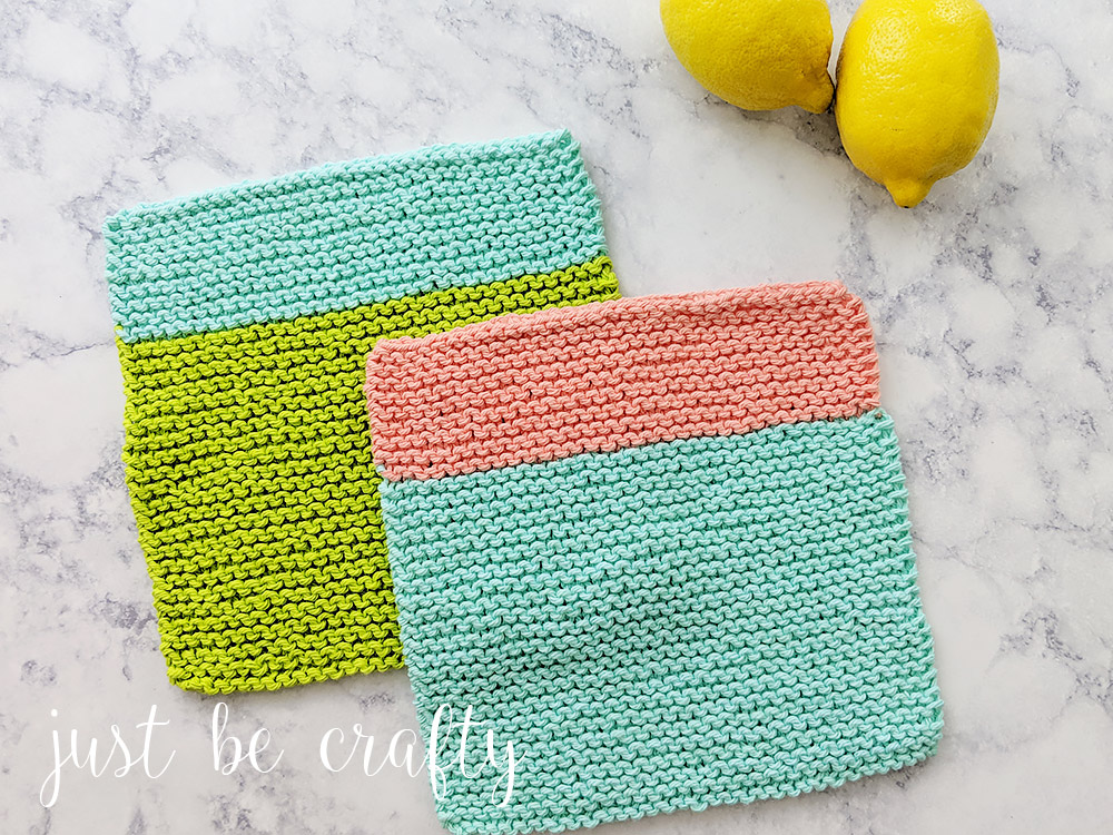 Beach House Knitted Dishcloth Pattern