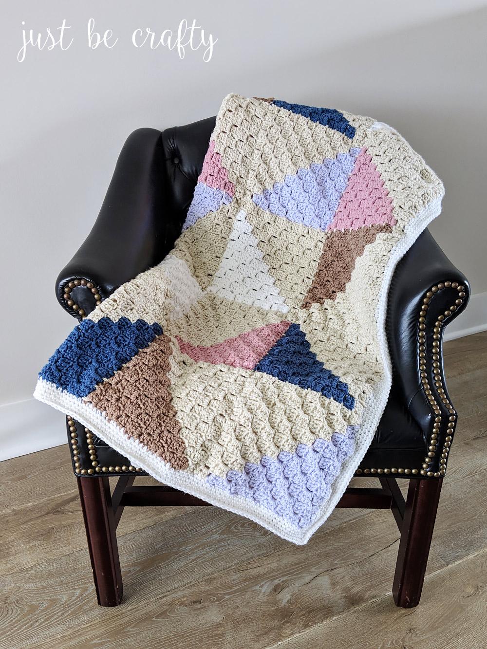 Crochet Afghan Quilt: C2C Square Tutorial