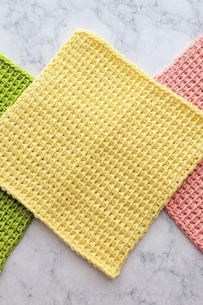 Tunisian Simple Stitch Dishcloths