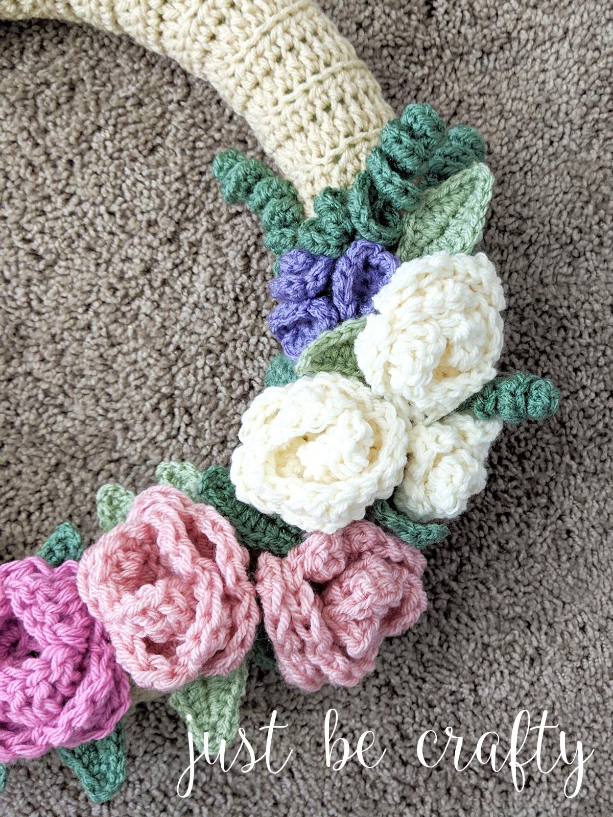 Crochet Spring Floral Wreath