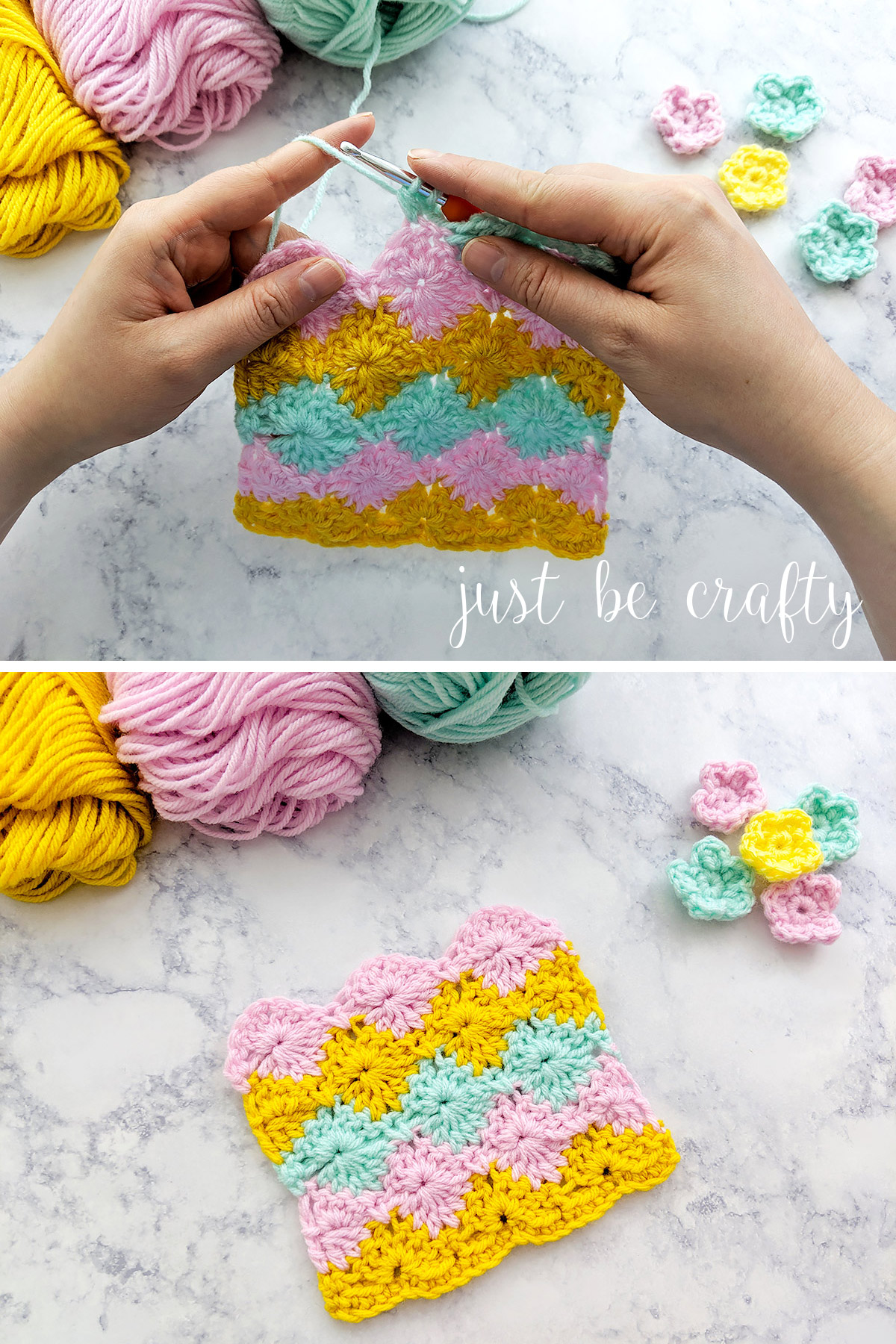 Learn to crochet the harlequin stitch