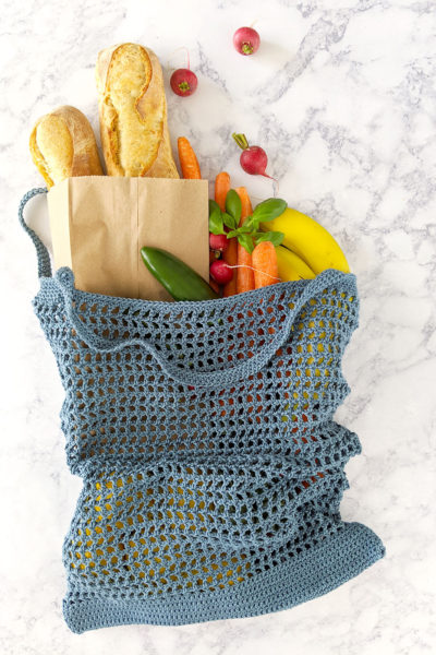 Veggie Stand Market Bag - Free crochet pattern by Just Be Crafty