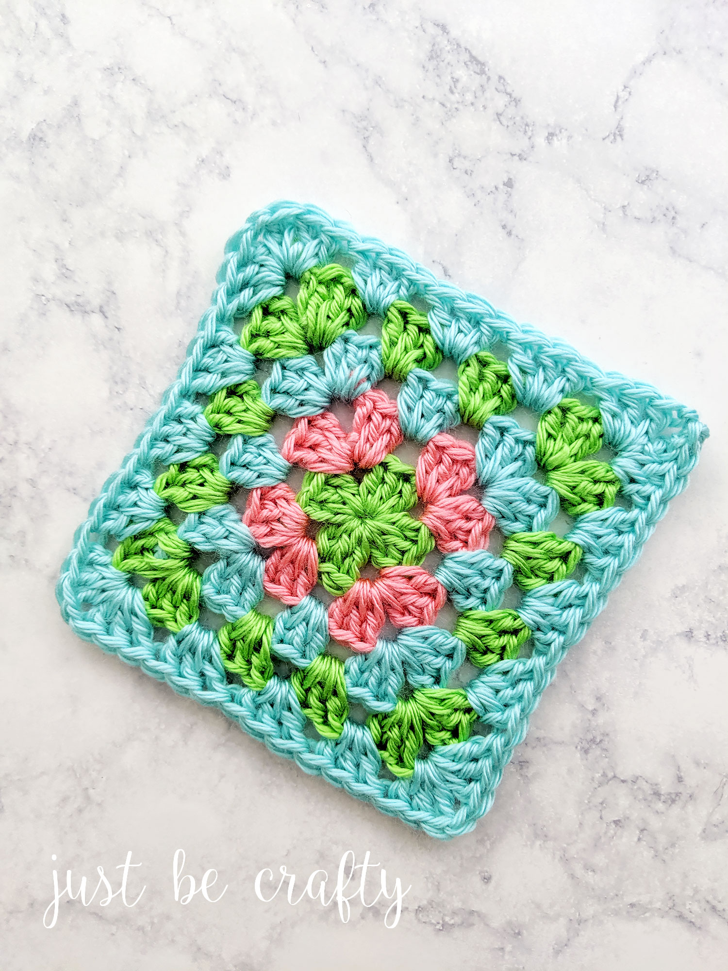 Granny Square Tutorial | Crochet Tutorial by Just Be Crafty