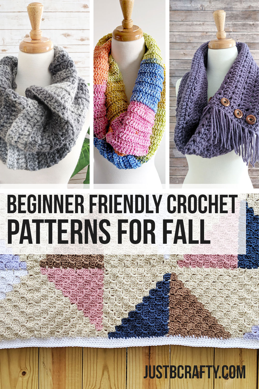 Beginner Friendly Crochet Patterns for Fall - Free crochet patterns by Just Be Crafty