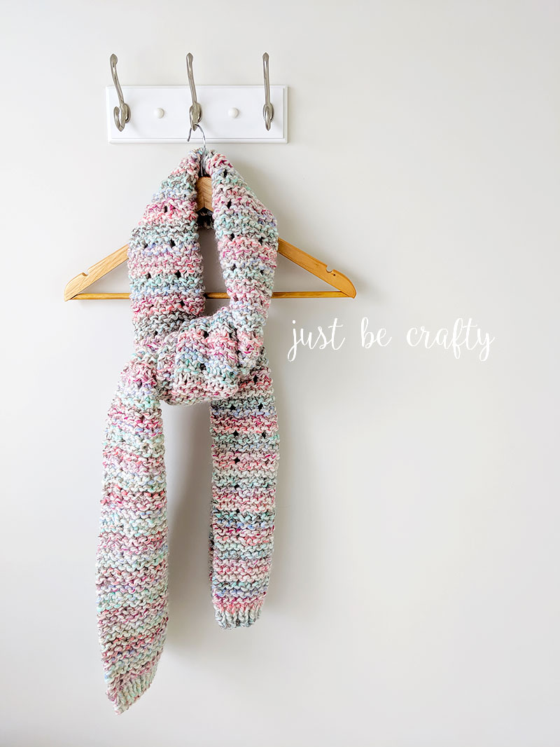 Cotton Candy Crochet Scarf Pattern   Free crochet pattern by Just Be Crafty