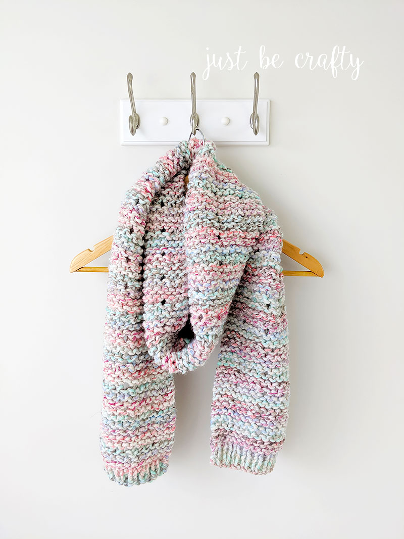 Cotton Candy Crochet Scarf Pattern | Free crochet pattern by Just Be Crafty