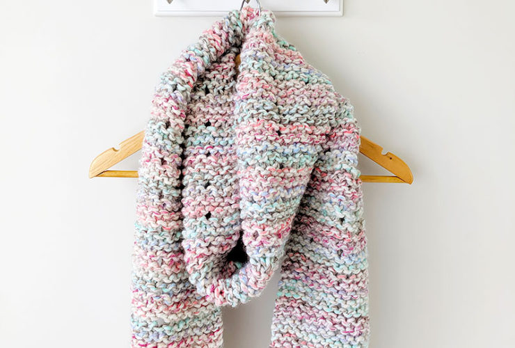 Cotton Candy Knit Scarf
