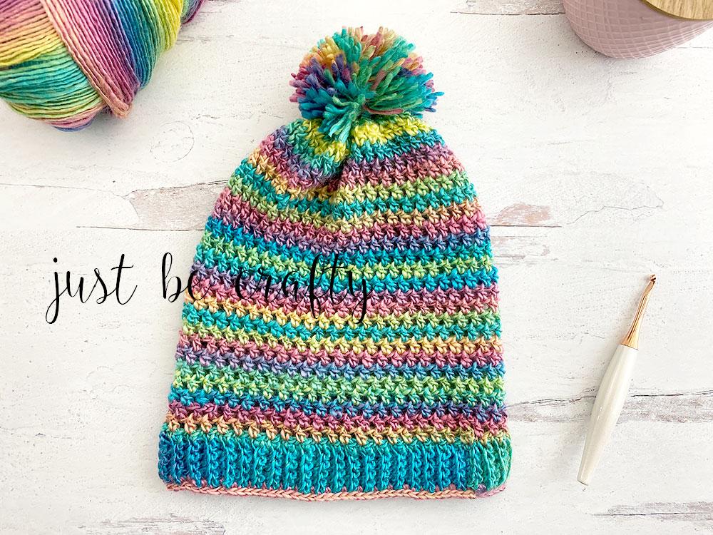 Spring Slouchy Crochet Beanie