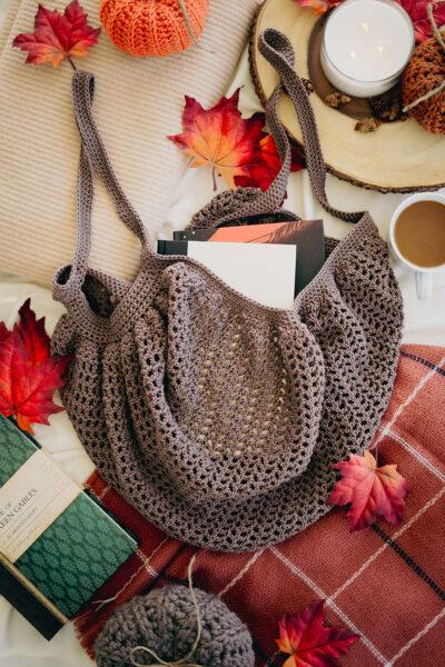 Crochet Bookshop Market Bag