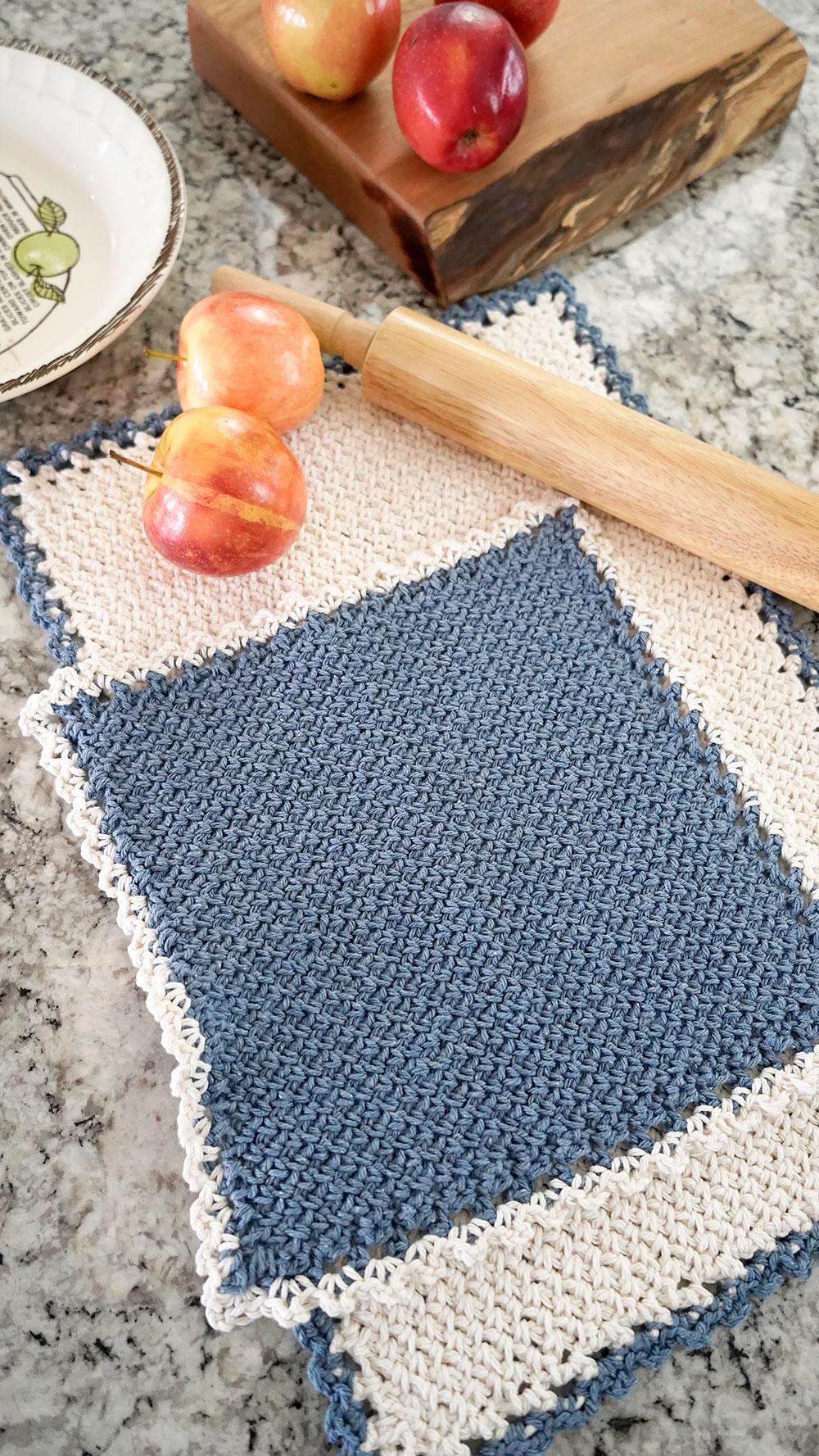 Fall Tea Towel Crochet Pattern