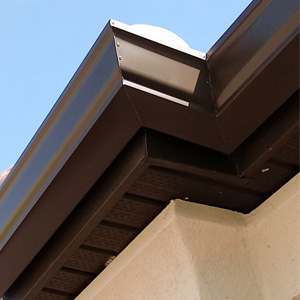 Nice brown gutter install corner