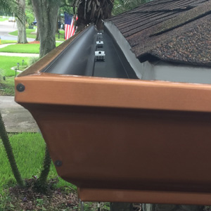 Newly installed gutters in Greater Carrollwood Florida