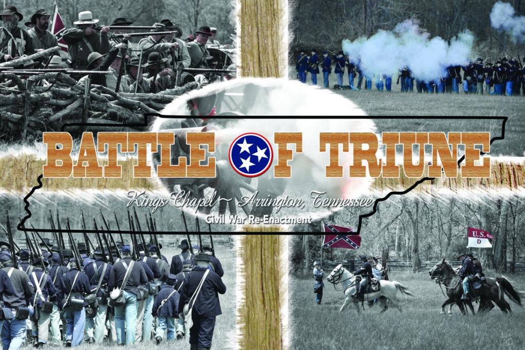 Annual Civil War reenactment in Franklin, Tennessee area