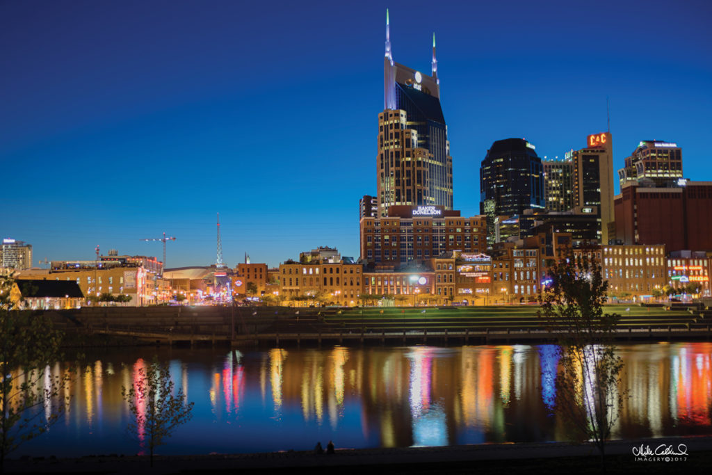 Nashville Skyline at Night time