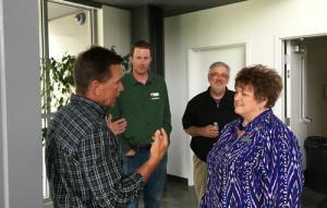 Victor Mayor Jeff Potter Listens as Public Works Director Larry Pardee talks START