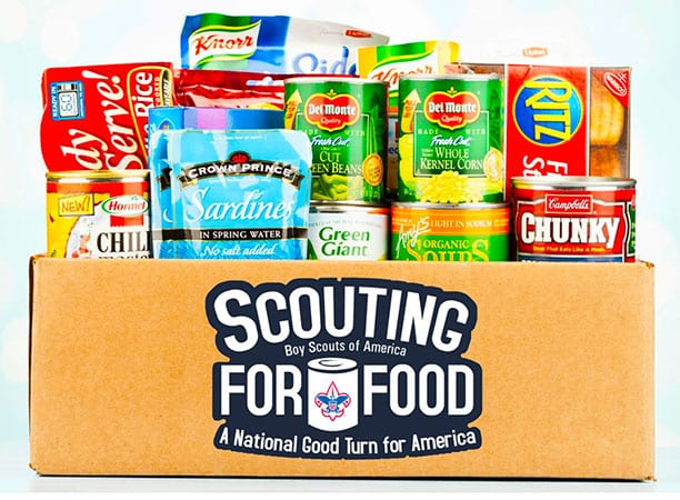 Scouts Collect Food