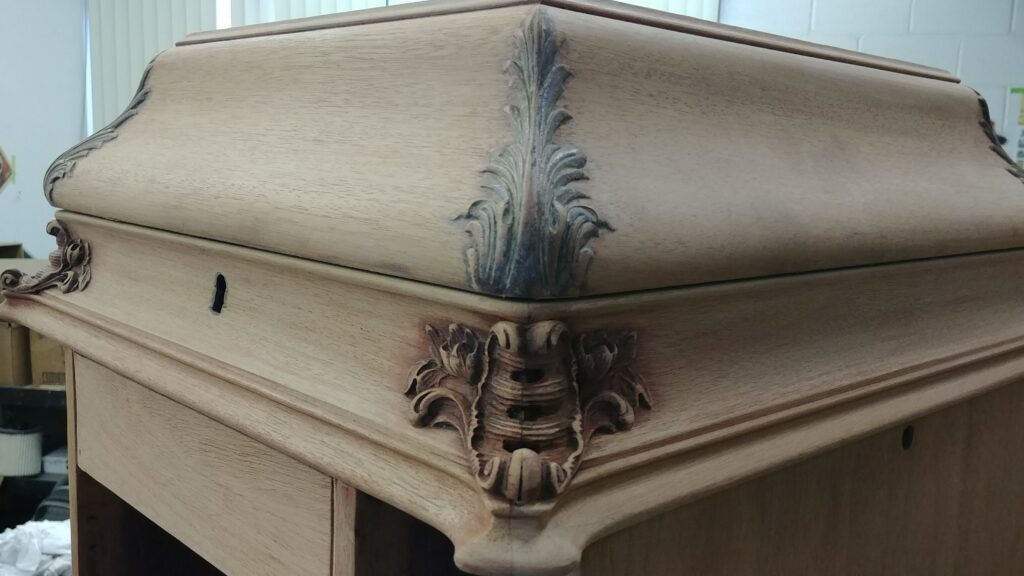 Stripping and restoring an antique Victrola
