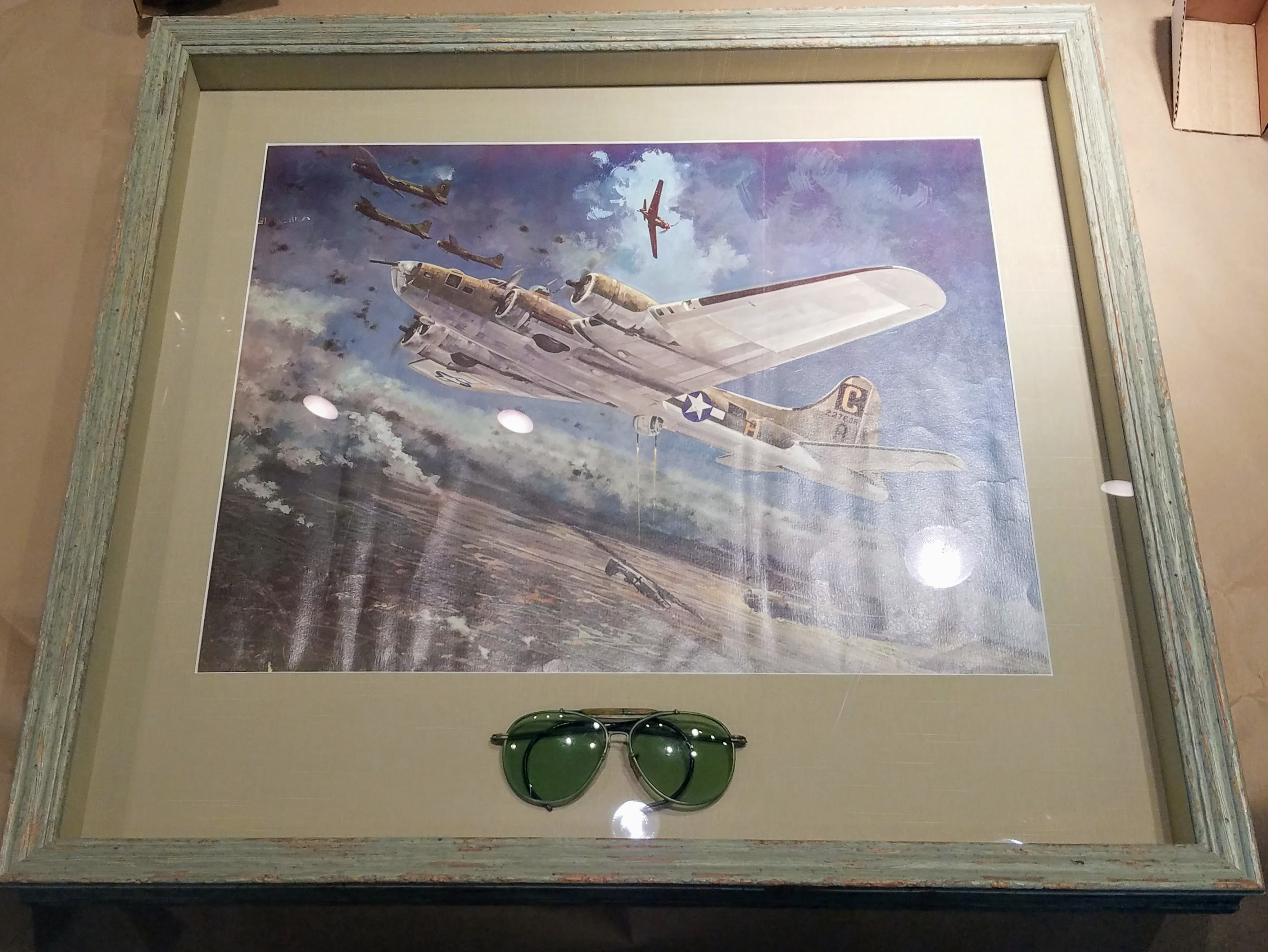 Custom framed art Aviator art Plane art