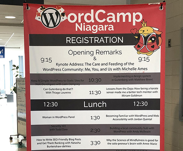 wordcamp niagara schedule