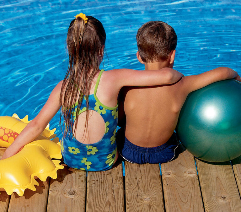 How can I keep my kids safe in the swimming pool?
