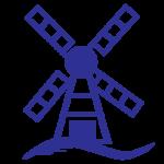 Mykonos Windmill Icon - Represents Mykonos Specialty Dish