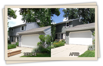 testimonials for a 2 story home - before and after picture