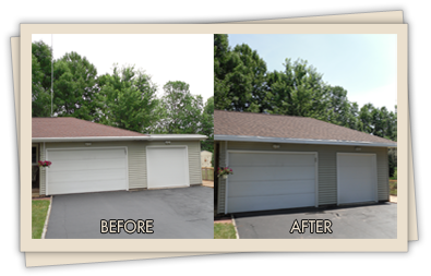 testimonials for a single story home - before and after picture