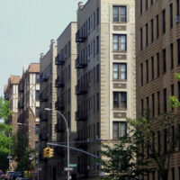 This is an image of Allerton Apartment Buildings in Various Archetectural Styles